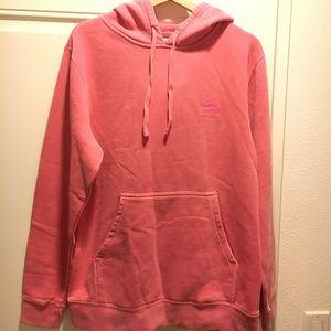 Anti social social club dark pink hoodie